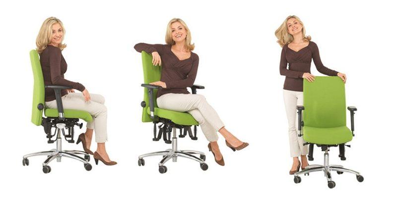 Sedie operative per l 39 ufficio con regolazioni necessarie for Sedie operative per ufficio
