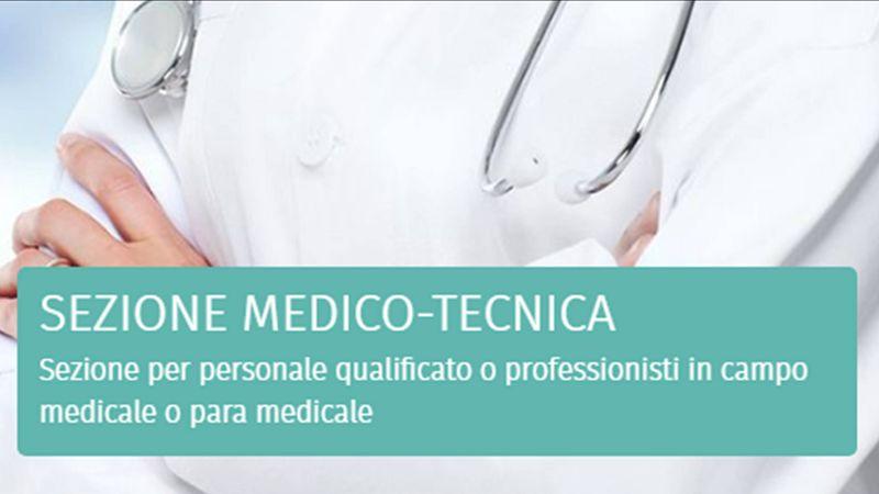 sezione medico tecnica per un personale qualiricato medicale o para medicale