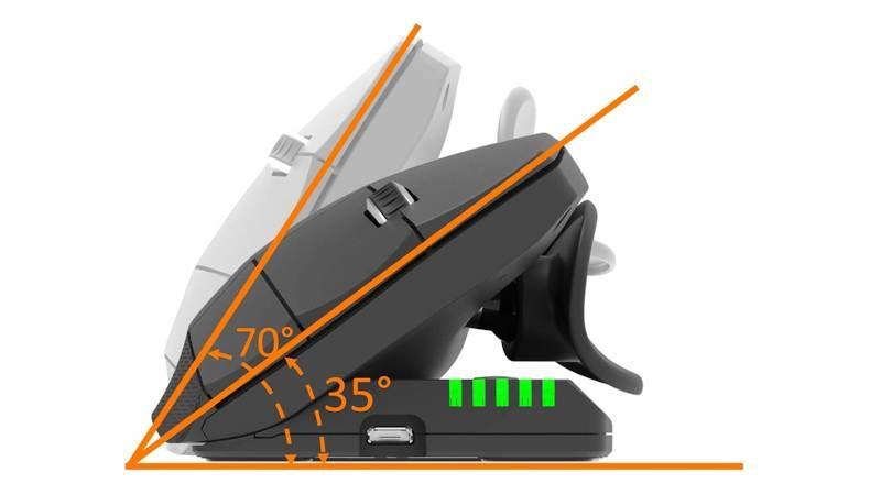mouse verticale regolabile inclinazione, foto presentazione